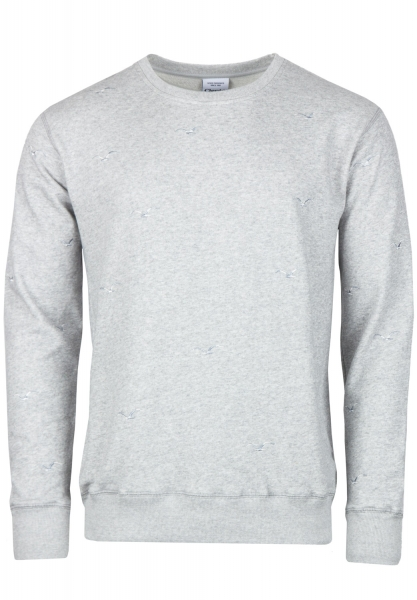 Cleptomanicx Flock Off Crewneck - Heather Gray