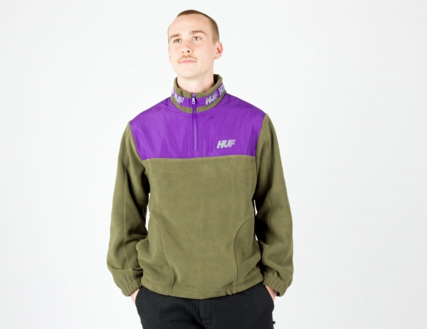 HUF Mountain 10K Quarter Zip - Dusty Olive