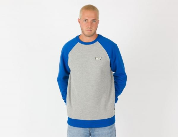 VANS Rutland III Sweatshirt - Cement Heather / Victoria Blue