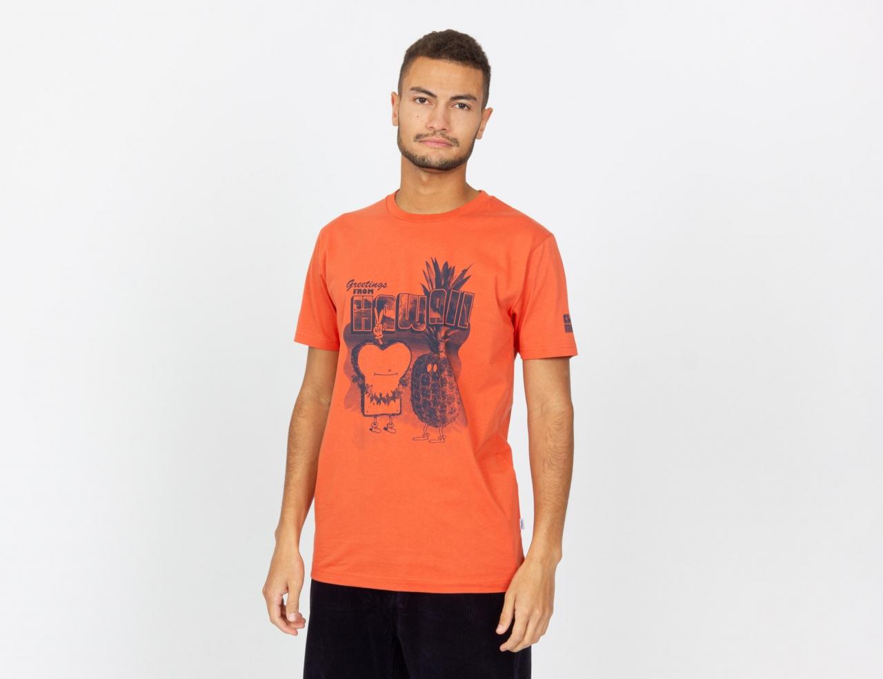 Cleptomanicx Toast Hawaii T-Shirt - Chili