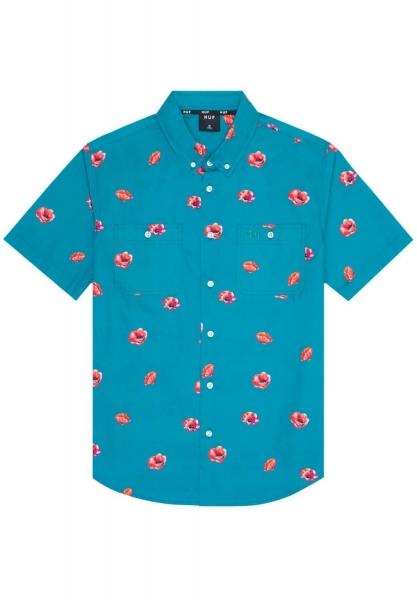 HUF Poppy Woven Shirt - Biscay Bay