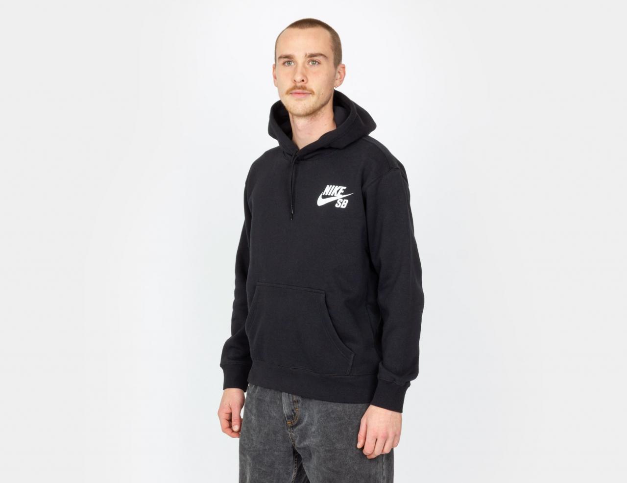 Nike SB Skate Icon Hoodie - Black / White