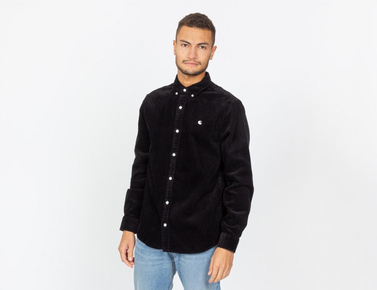 Carhartt WIP Madison Cord Hemd - Black