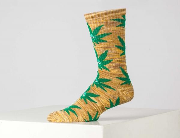 HUF Green Buddy Socken - Yellow