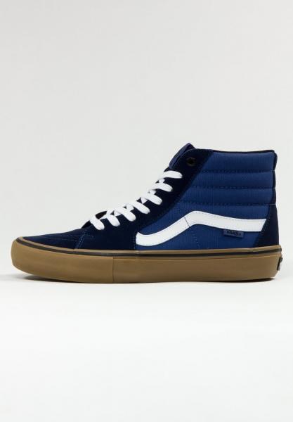 Vans Sk8-Hi Pro - (Rainy Day) Navy/Gum