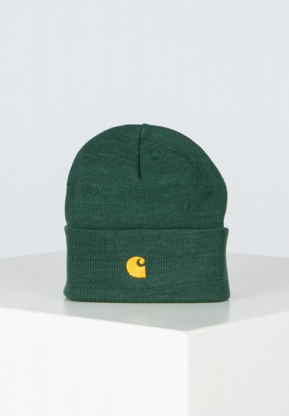 Carhartt WIP Chase Beanie - Treehouse/Gold