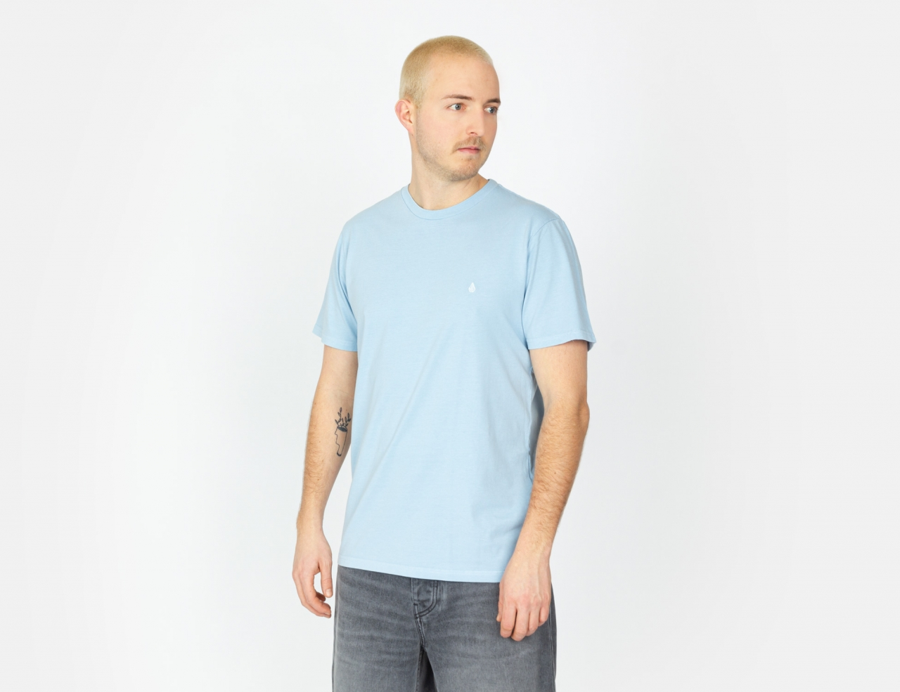 Volcom Solid Stone Emb T-Shirt - Aether Blue