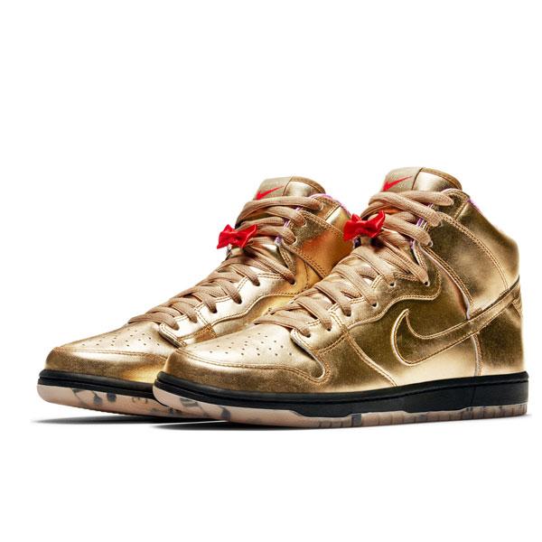 Nike SB x Humidity Dunk High Gold
